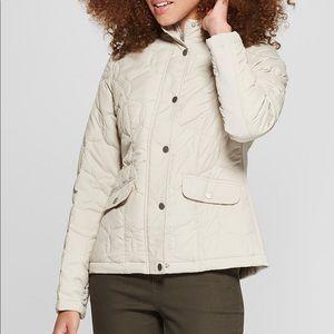 Khaki puffer coat